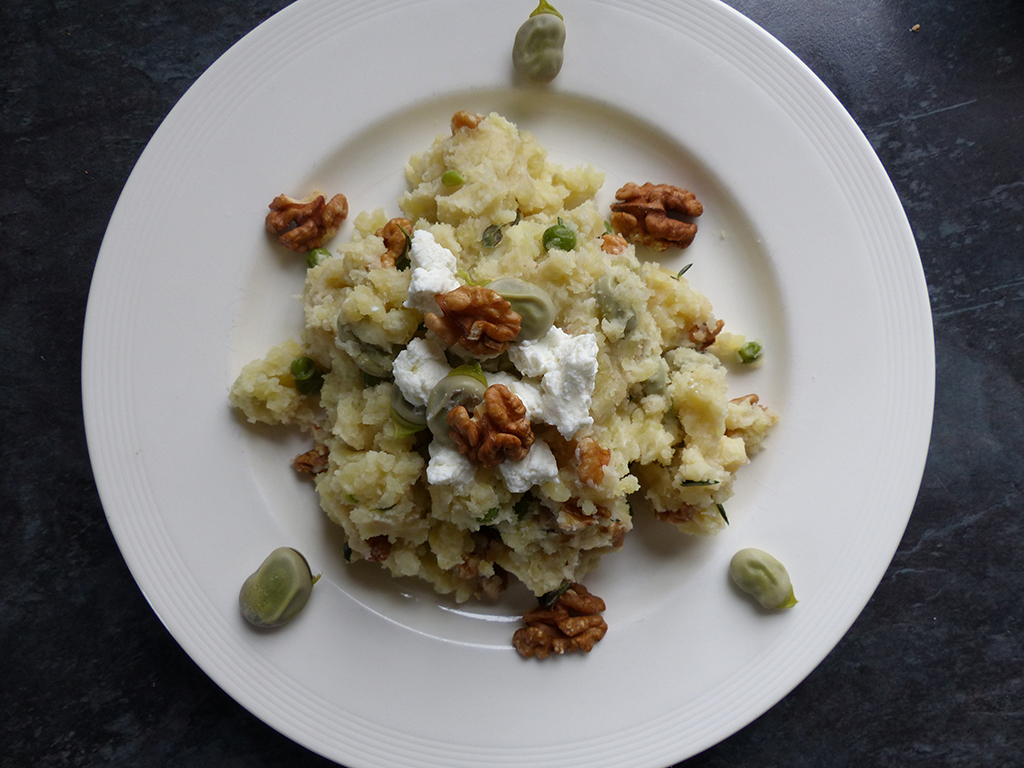 Mashed Potato with Broad Beans