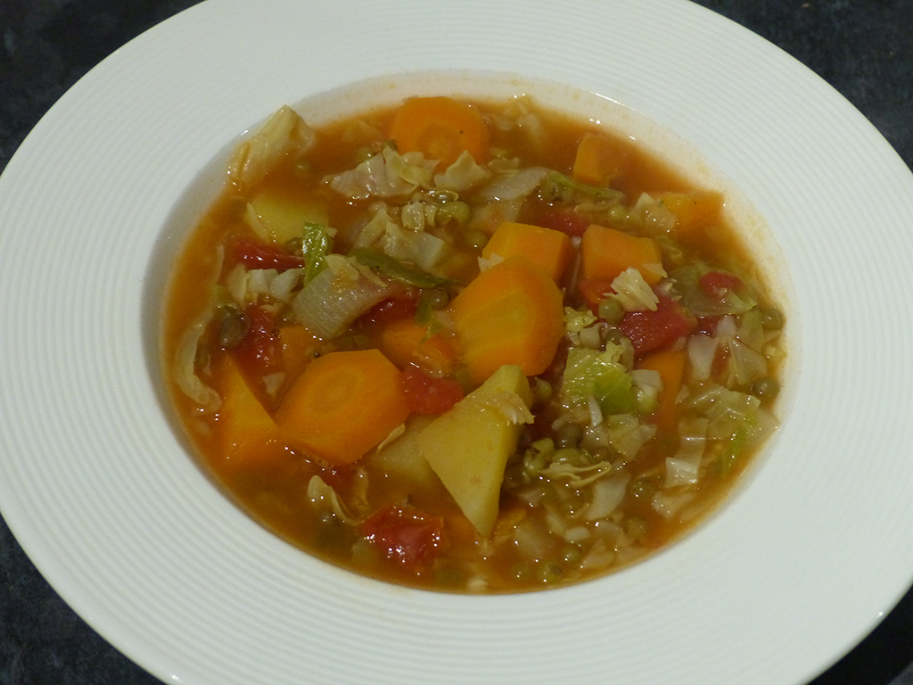 Chunky Root Vegetable & Cabbage Soup