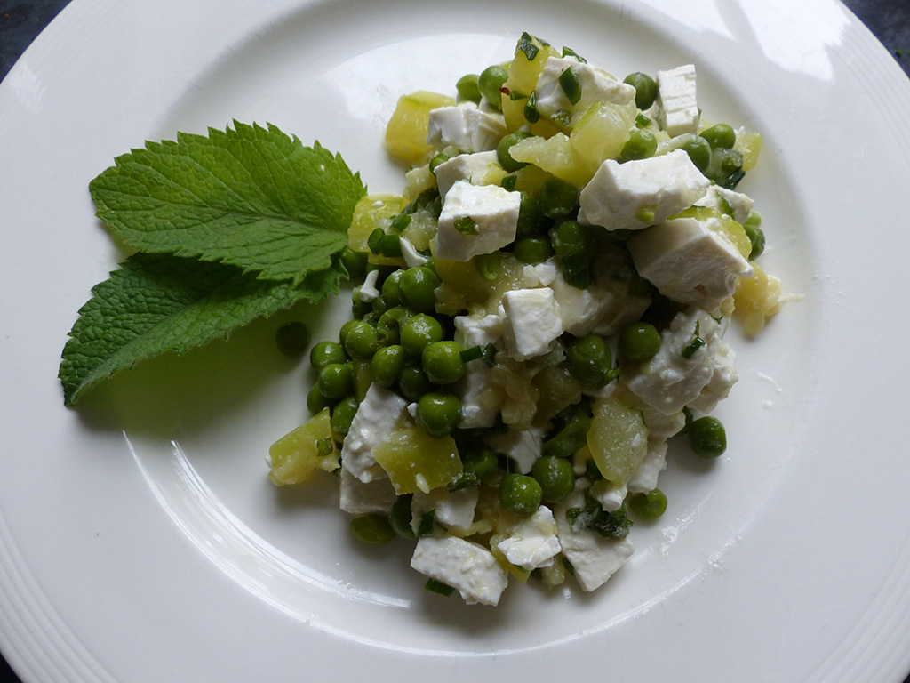 Courgette & Peas Salad