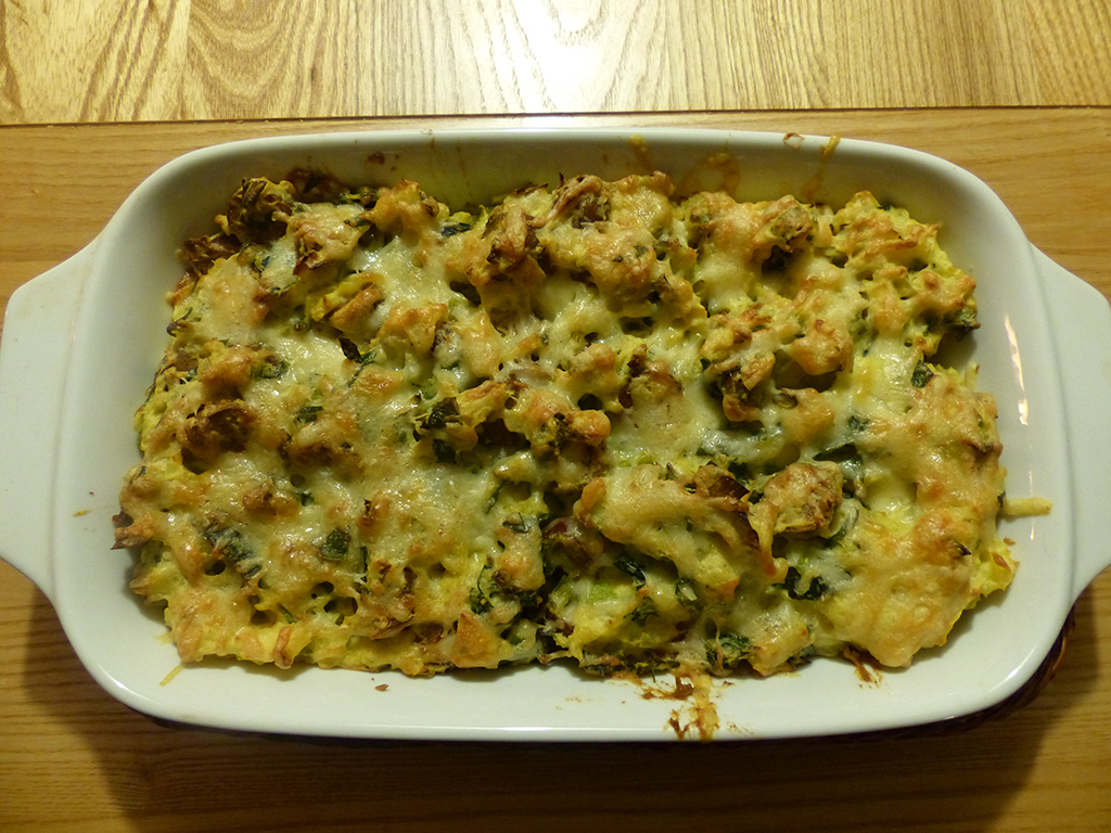 Leek and sausage pie