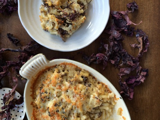 Mac & cheese with Dulse
