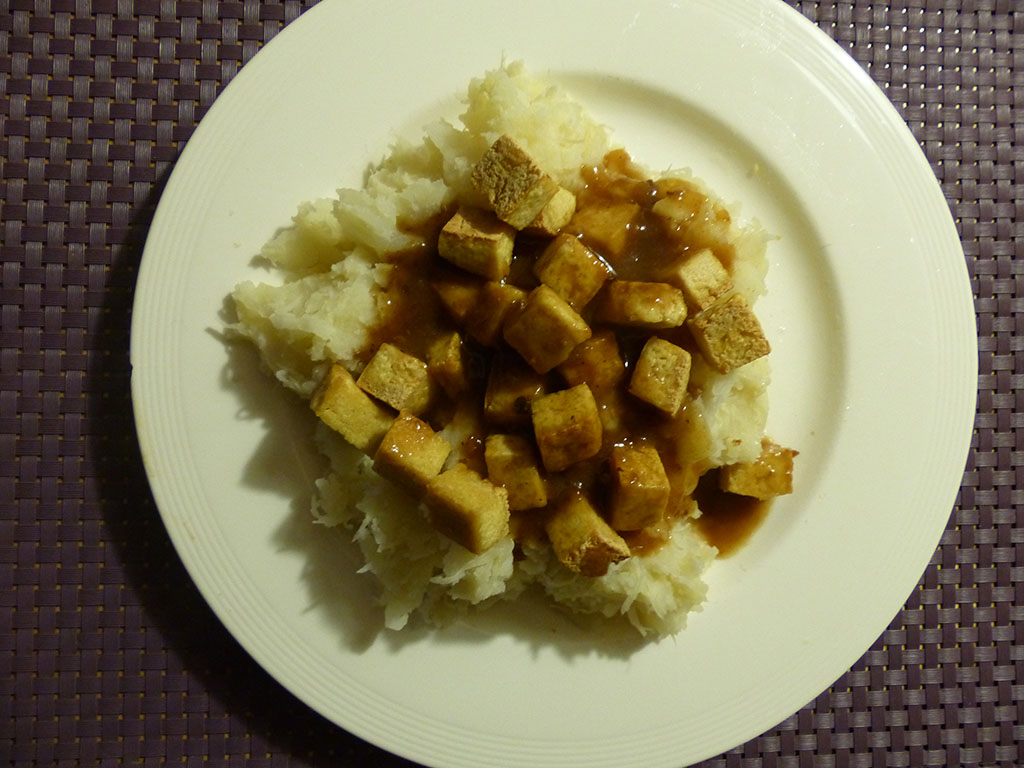 Sauerkraut with tofu